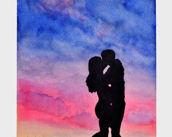 Love, Until the End of the World. Watercolor Painting