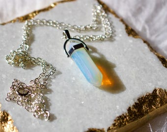 Opalite Charm Necklace