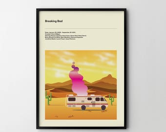 BREAKING BAD - Poster Art Print TV Posters Breaking Bad Poster Print
