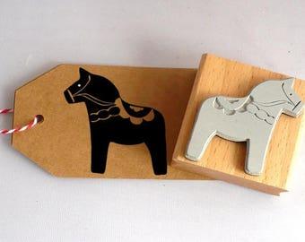 Stamp dala horse, scandinavian, 4 cm