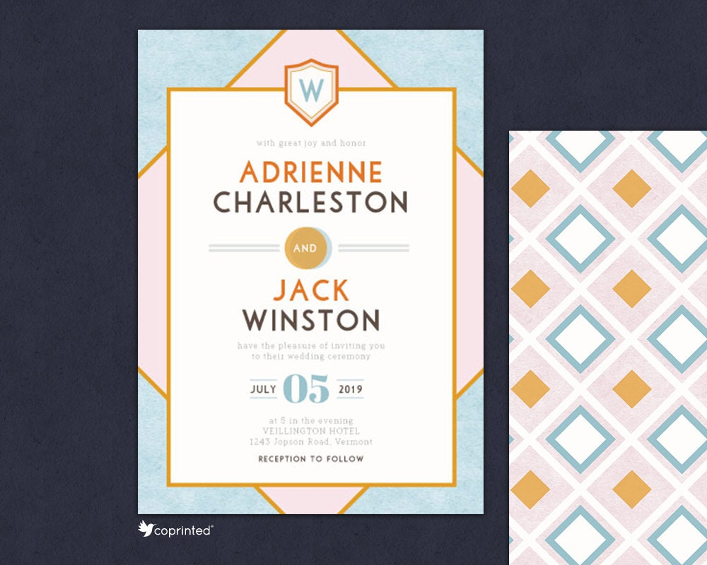Wes Anderson Theme Wedding Invitation Wes Anderson Movie