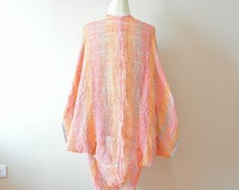 two styles bolero,Boho shrug,woven bolero,woven poncho,boho,cotton woven shrug,woven cape,Boho Clothing,cape,kimono shrug, oversize shrug