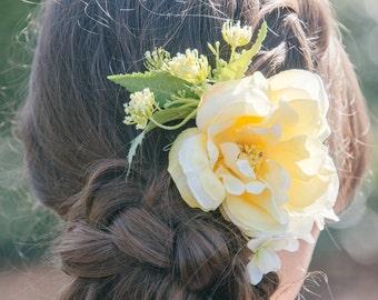 Pixie Lemon Flower Hair Comb