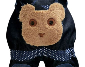 Jeans-Dungarees with teddy head