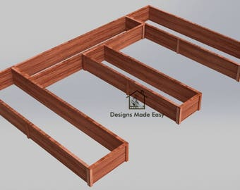 Easy DIY Raised Garden Bed Frame - Design Plans Instructions for Woodworking 07