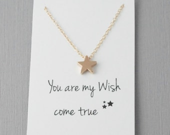 Wish come true, Star necklace, Reach for the stars, Wish upon a star, Wish necklace