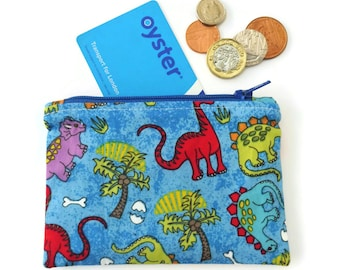 Dino coin purse (blue)