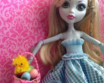 Easter Basket, Eggs, and Treat For Monster High Dolls