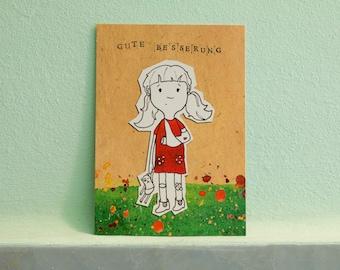 """Postcard """"Pepper"""", get well soon"""