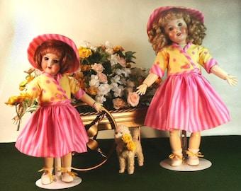 Bleuette and Rosette patterns for doll clothing - La Semaine de Suzette 1959 UNE VEST