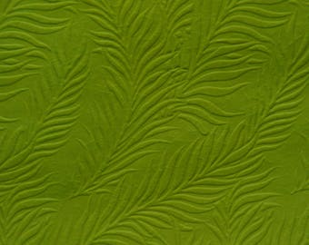 Lime Coloured Embossed Fern Design on Decorative Paper