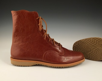 Handmade Leather Ankle Boot in Russet Calf