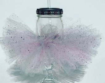 Mason Jar,Wine Glass,Tutu,Barware,Mason Jar Wine Glass,Birthday,Bachelorette,Drinkware,Unique,Ballerina,Bridal Shower, Wedding Gift