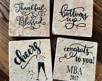 Graduation Coasters