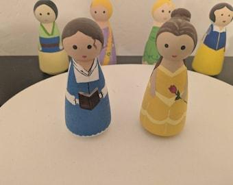Belle Peg Doll Duo