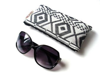 Ethnic quilted glasses case