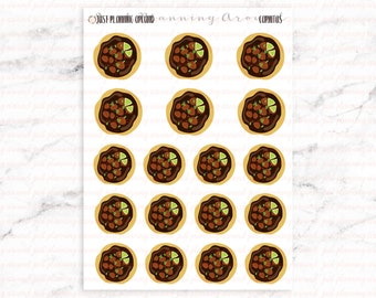 Carnitas Stickers, Food Stickers, Mexican Food Stickers, Hispanic Food Stickers, for use with  Erin Condren, Happy Planner