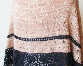 Oyster Shawl PDF Knitting Pattern Download