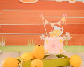 Lemonade stand Cake Topper, lemonade cake topper, lemonade party