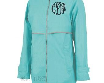 Monogram Raincoat, Monogram Rain Jacket, Charles River Jacket, New Englander Rain Jacket, Personalized Jacket
