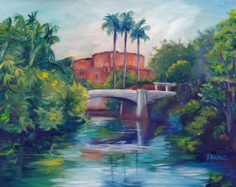 The view from Here-Harambe, original art, oil painting, landscape art, landscape