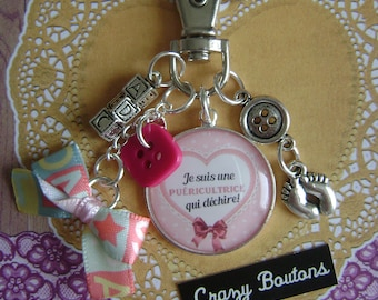 "Keychain or bag charm ""Taken"""