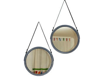 "Large Mirror ""Rio Max"" / Loft Mirror / Wall Mirror / Strap Mirror / Color Choice / Wall Hanging Mirror / Decorative Mirror / Scandinavian"