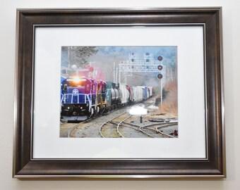 Framed 8x10 Train Photography