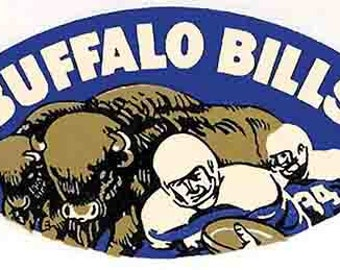 Vintage Style Buffalo Bills  Football NFL AFL   1960's   Travel Decal sticker