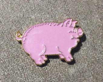 Pink Pig Hat pin