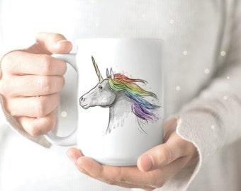 Unicorn Mug - Rainbow Unicorn Mug - Unicorn Coffee Mug - Unicorn Coffee Cup - Unicorn Mugs - Cute Unicorn Mug - Unique Unicorn Mug
