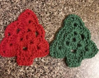 Handmade crochet Christmas Tree ornament.
