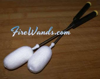 Fire Wands / Fire Torches for Fleshing & Cupping Massage, Set of Two FireWands, Choice of Handle Style