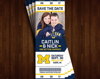 Michigan Save the Date Tickets