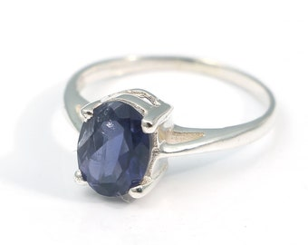 Iolite 92.5 sterling silver ring size 5