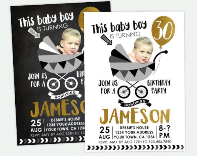 Funny Adult Birthday Invitation, Adult Birthday Invitation with photo, 30, 40, 50 Birthday Invitation, Any age Personalized DIGITAL Invite