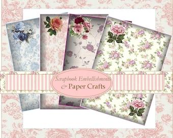 Digital Download Floral Paper Sheets