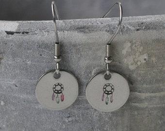 Dreamcatcher Steel Earrings