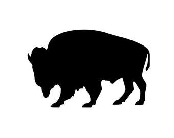 buffalo silhouette etsy rh etsy com bison clip art free free bison clip art