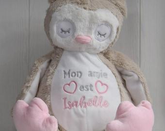 Cadeau Naissance Hibou en Peluche Personnalisée Cadeau Baptême Cadeau Anniversaire