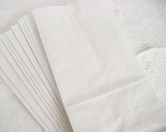 50 White Paper Bags 4.25X8 inch