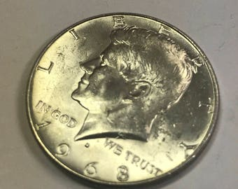 1968D 40% Kennedy Half Dollar Circulated