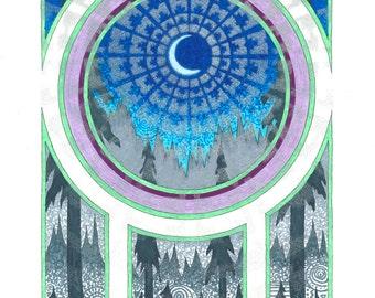 Original artwork, Limited edition prints, Nightlight (w/ daylight)