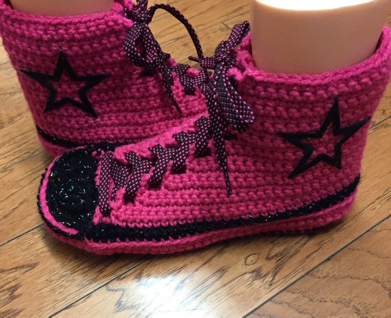 Slippers Converse Crochet Womens 9 Tennis Slippers 11 Converse Shoes