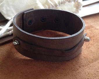 Leather Wristband, leather strap, leather band