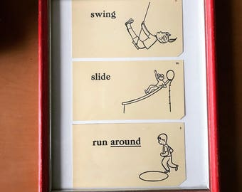 Vintage flashcards