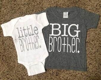 SIBLING SHIRTS, Big Brother Shirt, Little Brother Shirt, Baby Announcement, Big Bro Shirt, Lil Bro Shirt, Sibling T-shirts, Brothers Shirt