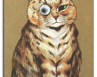 Louis Wain Cat with Monocle Mouse Mat Mouse Pad