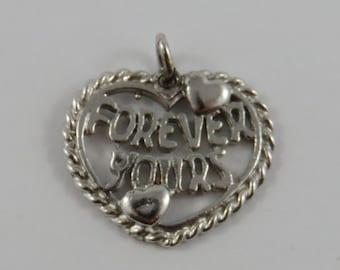 Forever Yours Sterling Silver Vintage Charm For Bracelet
