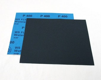 """400 Grit  Wet / Dry Sand Paper  9""""x11"""" Sheets Package  Of 10"""